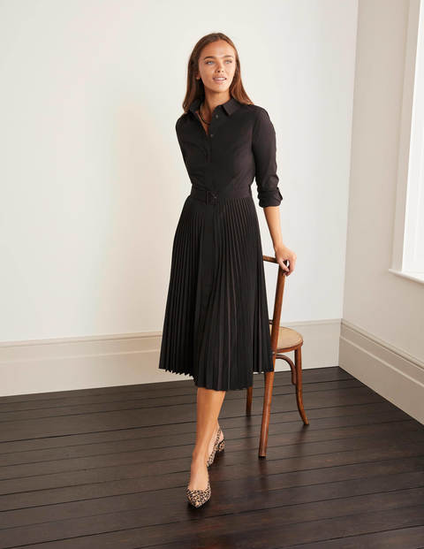 Alma Pleated Shirt Dress