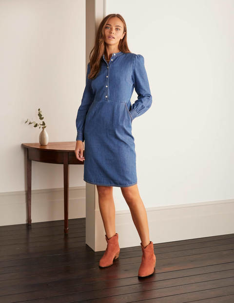 Elsie Denim Dress - Mid Vintage