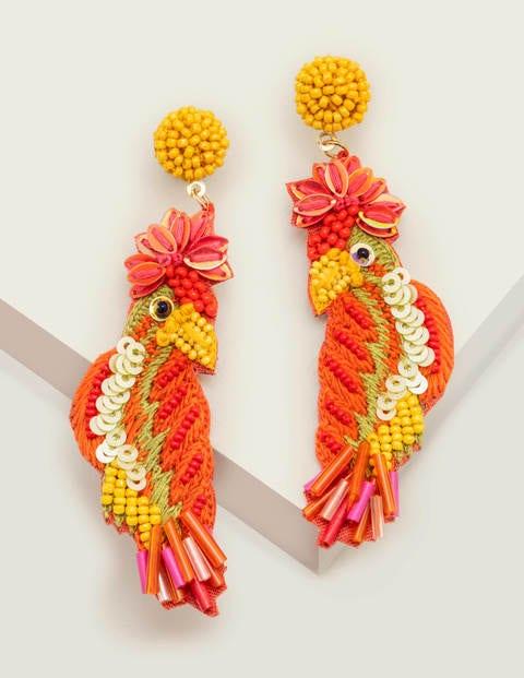 Tropical Bird Earrings