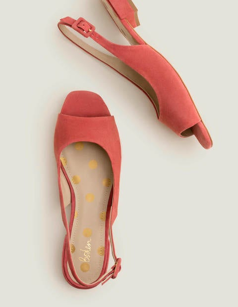 Ivy Low Heel Slingbacks - Rouge