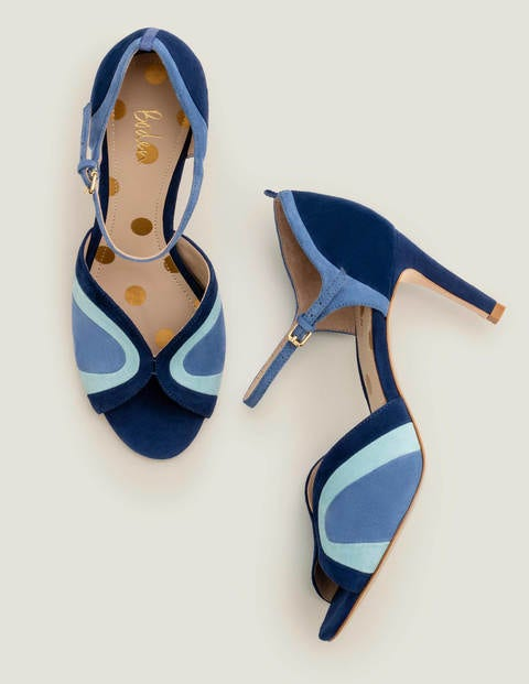 Eugenie Heels - Blue Decadence Multi
