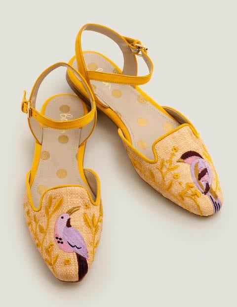 Chaussures plates Miriam en raphia