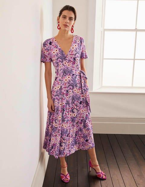 boden - Cassia Jersey-Midikleid Purple Damen , Purple