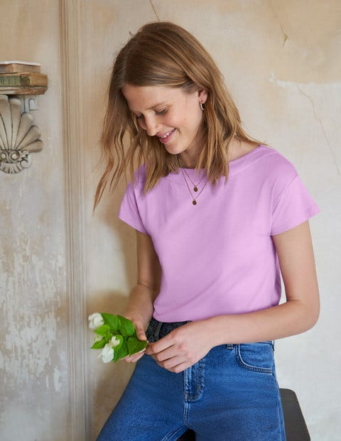 Supersoft Slash Neck Tee - Rosebay
