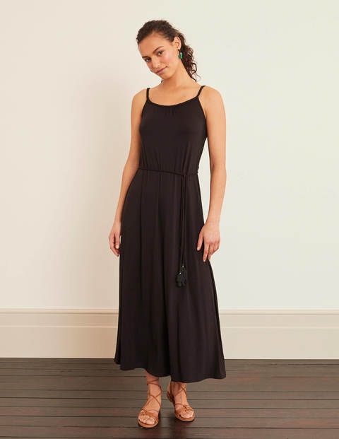 Louisa Jersey Maxi Dress - Black