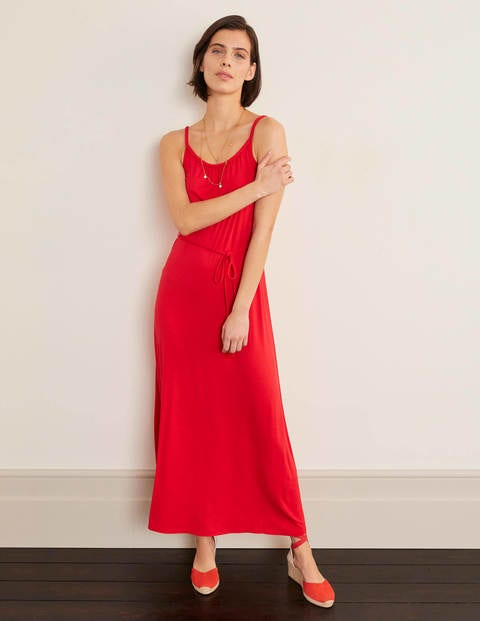 boden - Louisa Jersey-Maxikleid Red Damen , Red