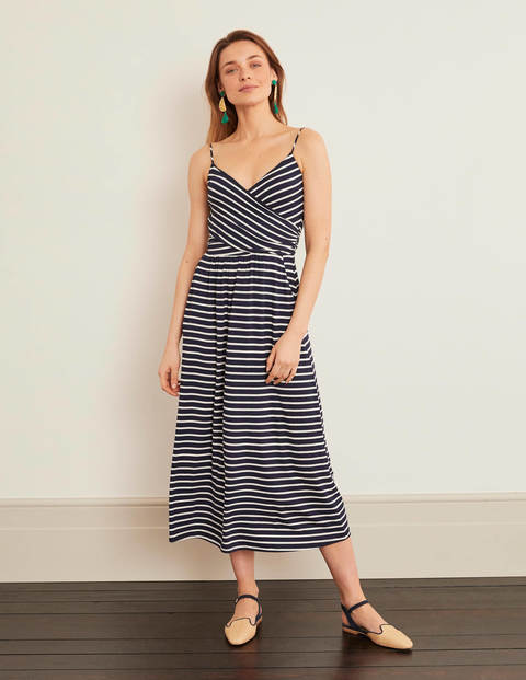 Hope Jersey Midi Dress - Navy/ Ivory