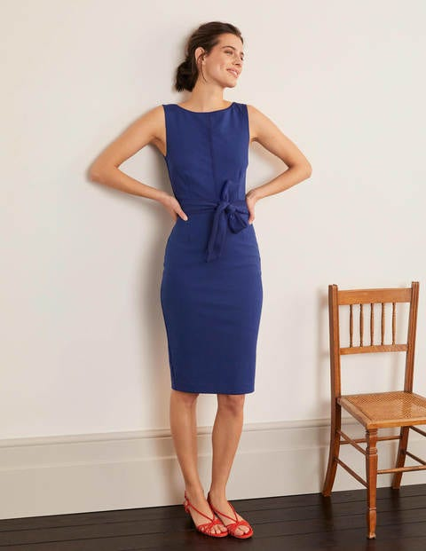 Zeta Ponte Dress - Blue Decadence