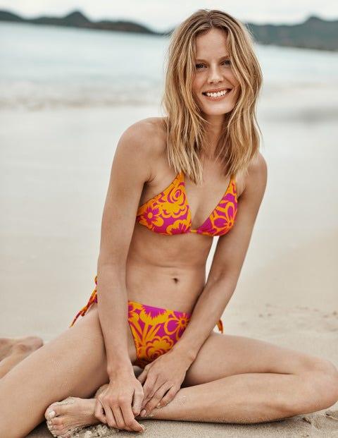 String Bikini Top - Pop Pansy, Tropical Bloom