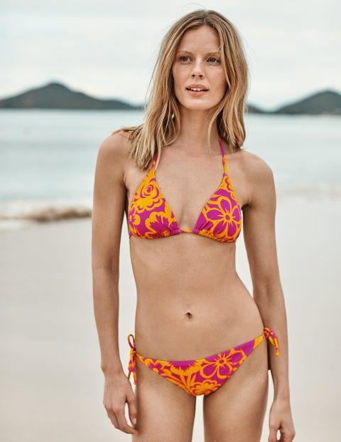 String Bikini Bottoms - Pop Pansy, Tropical Bloom