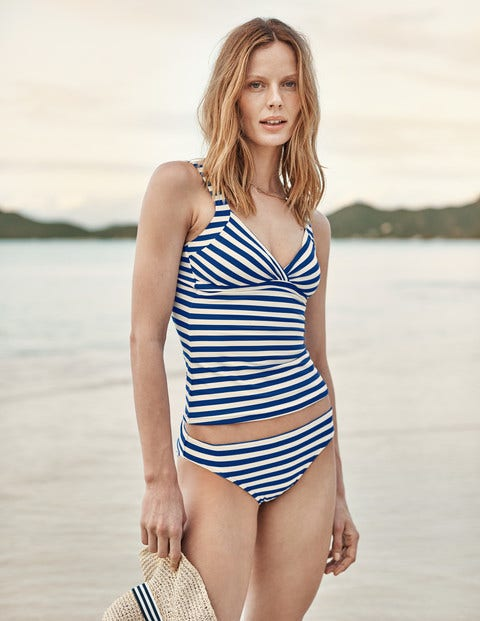 Bikini Bottoms - Bold Blue/Ivory Stripe