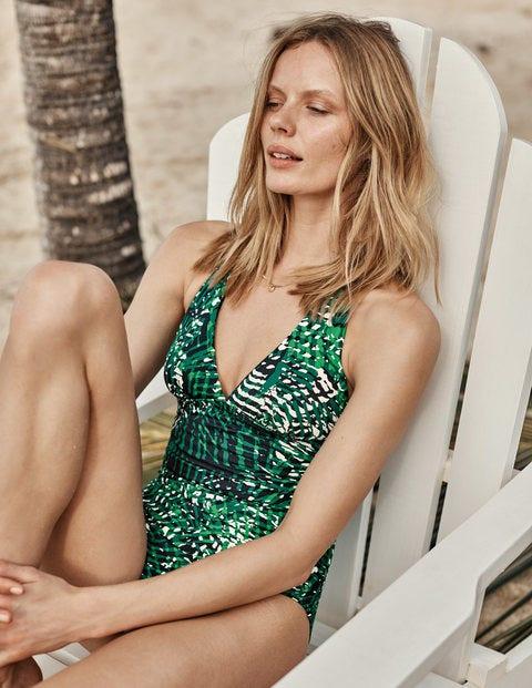 Taormina Swimsuit - Navy, Jungle Tropic