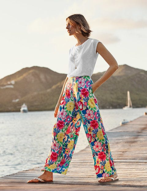 Padstow Wide Leg Trousers