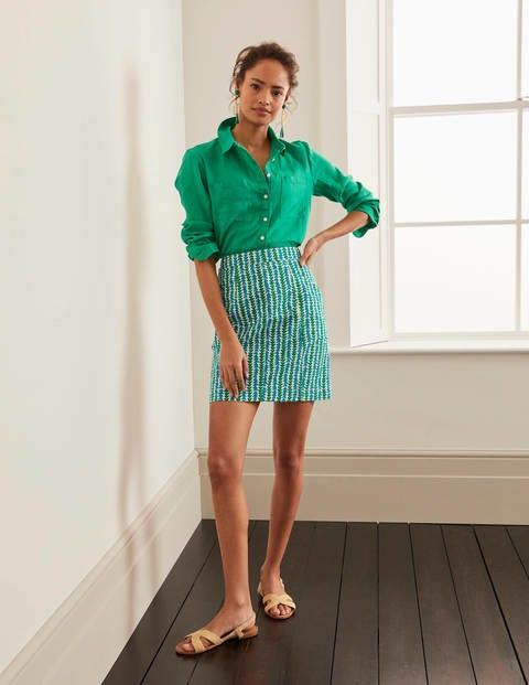 Daisy Chino Skirt - Rich Emerald, Petal Arrow