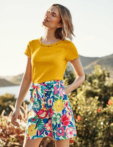 Boden Women Board Shorts Milti Color Cotton Blend  Size US 6
