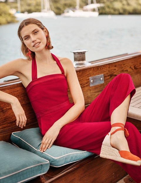 Santorini Jumpsuit - Red