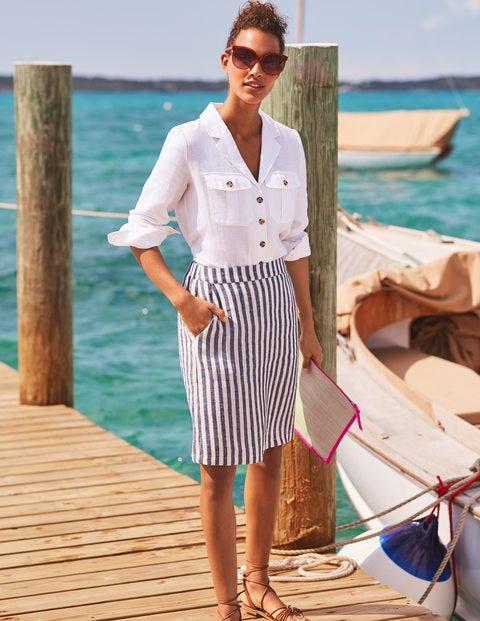 Lathbury Linen Mini Skirt