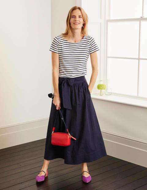 Demelza Midi Skirt - Navy
