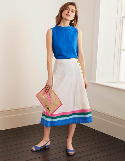 Willa Button Midi Skirt
