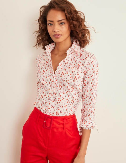 Modern Classic Shirt - Ivory, Berries