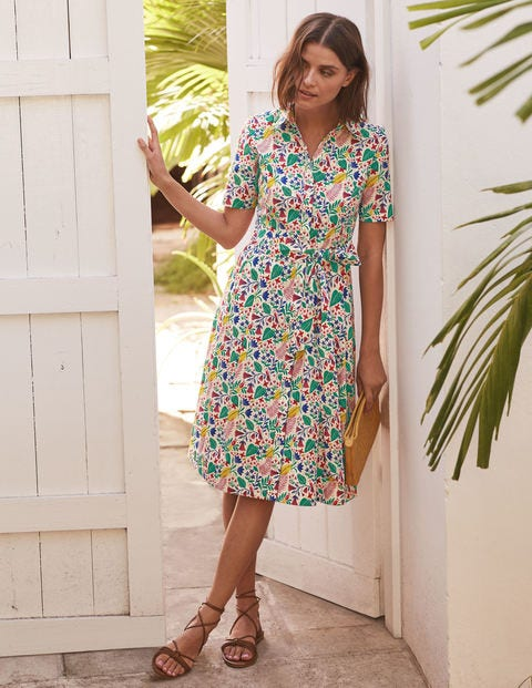 Anastasia Shirt Dress - Ivory, Paradise