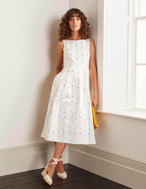 Philomina Dress - Embroidered Spot