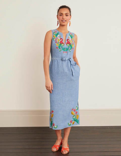 Cora Embroidered Midi Dress