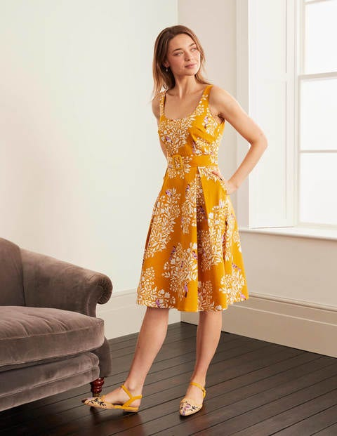 boden - Winifred Kleid Yellow Damen , Yellow