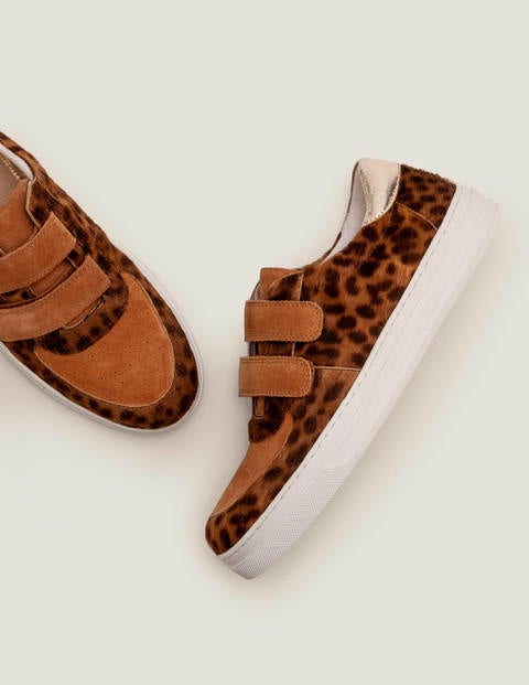 Nell Trainers - Tan Leopard/Gingerbread