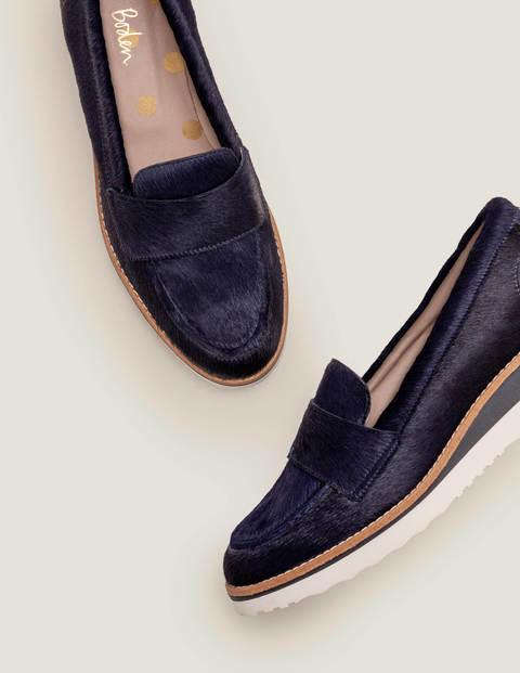 Elizabeth Platform Loafers - Navy