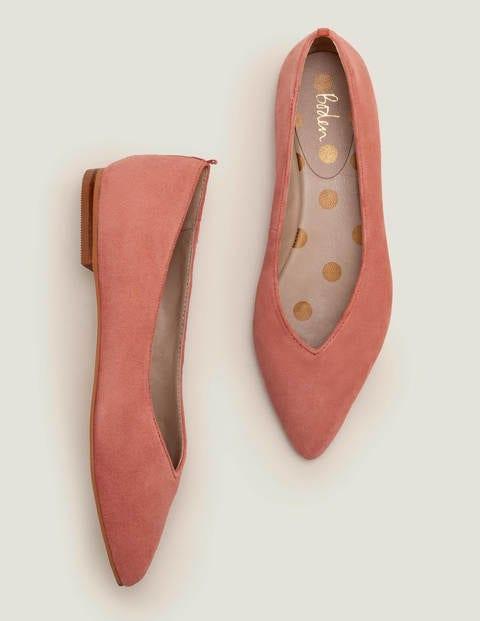 Vintage Shoes, Vintage Style Shoes Julia Pointed Flats Pink Women Boden Pink £56.00 AT vintagedancer.com