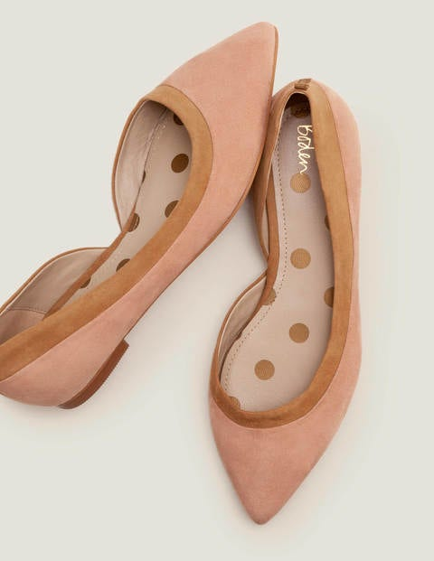 Sophia Pointed Flats - Fawn Rose/Camel