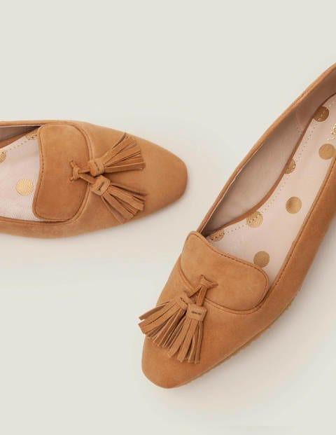 Chaussures Plates Violet - Camel