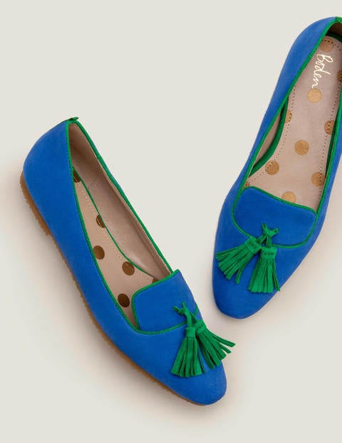 Violet Flats - Bold Blue/Forest Green