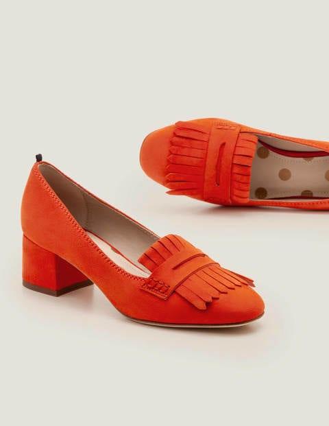 boden - Victoria Loafer mit mittelhohem Absatz Orange Damen , Orange
