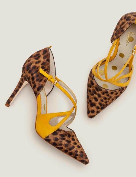 Rosemary Pumps - Hellbraun, Leopardenmuster/Sonnengelb