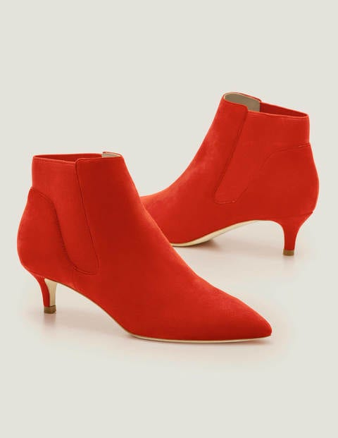 Elsworth Kitten Ankle Boots - Post Box Red