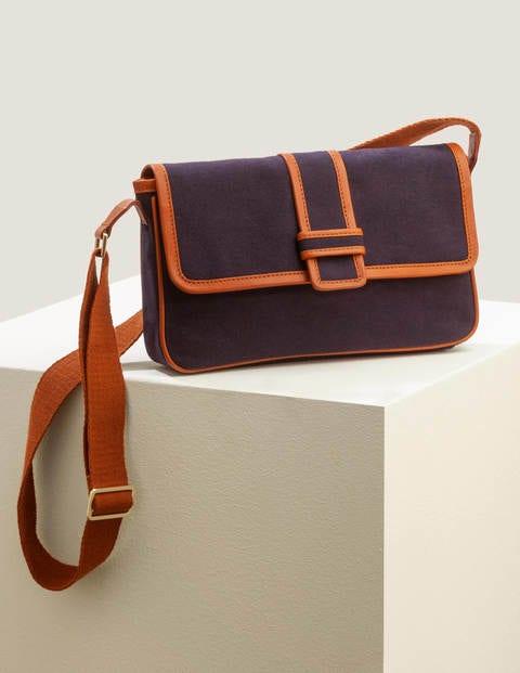 Perdita Crossbody Bag - Navy/Tan