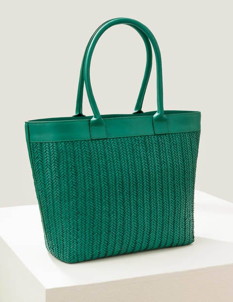 Titania Woven Tote Bag - Forest Green