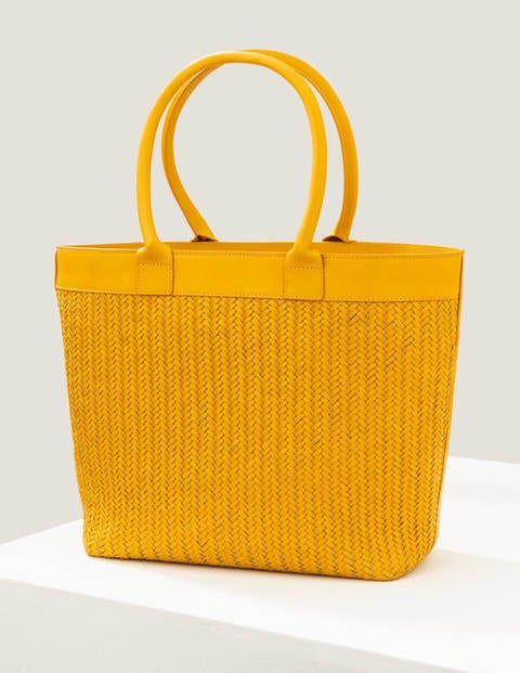 boden - Titania Gewebte Tragetasche Yellow Damen , Yellow