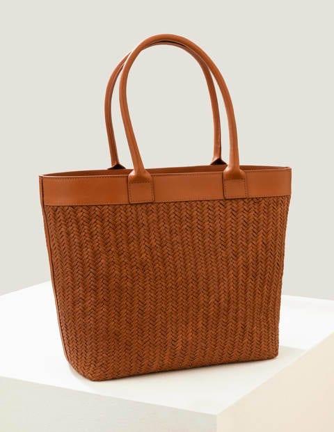 Titania Woven Tote Bag - Tan