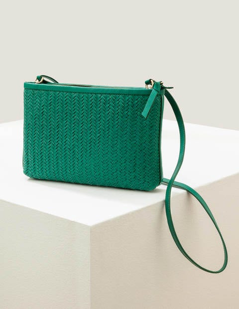 Titania Woven Clutch - Forest Green