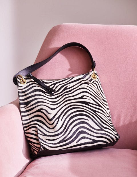 Portia Shoulder Bag - Zebra