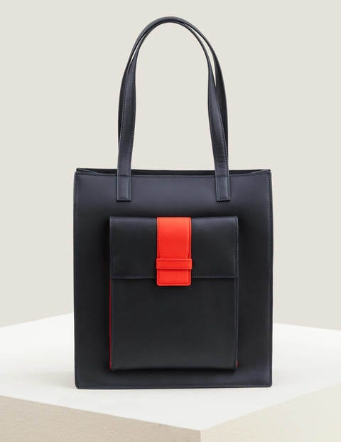 Miranda Tote - Navy/Post Box Red