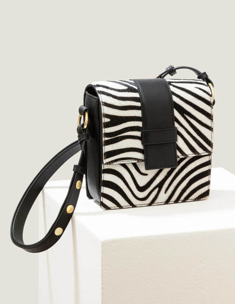 Miranda Satchel Bag - Zebra/Black