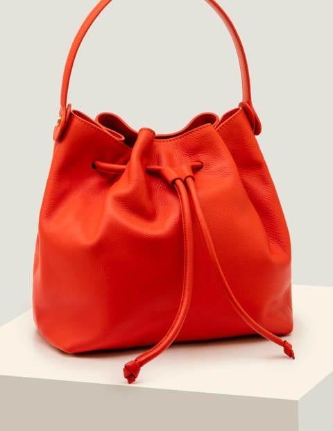 Octavia Tasche mit Zugband - Orangerot