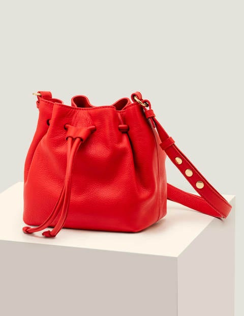 Mini Octavia Drawstring Bag - Post Box Red