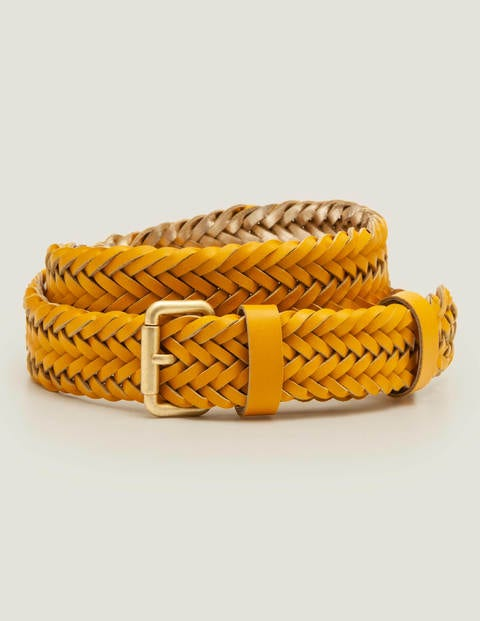 Woven Leather Belt - Tuscan Sun