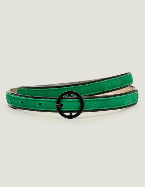 Piped Waist Belt - Rich Emerald/Navy