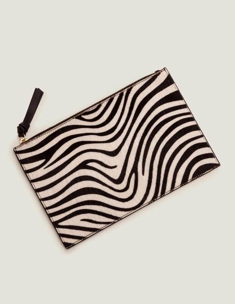 Large Keepsake Pouch - Zebra/Black